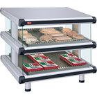 Hatco GR2SDS-30D White Granite Glo-Ray Designer 30 inch Slanted Double Shelf Merchandiser - 120/240V