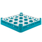 Vollrath 52694 Signature Full-Size Light Blue 16-Compartment 2 13/16 inch Short Glass Rack