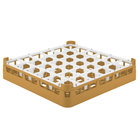 Vollrath 52689 Signature Full-Size Gold 36-Compartment 2 13/16 inch Short Glass Rack