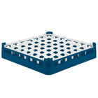 Vollrath 52699 Signature Full-Size Royal Blue 49-Compartment 2 13/16 inch Short Glass Rack