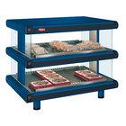 Hatco GR2SDH-30D Navy Blue Glo-Ray Designer 30 inch Horizontal Double Shelf Merchandiser