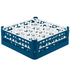 Vollrath 52703 Signature Lemon Drop Full-Size Royal Blue 20-Compartment 5 11/16 inch Tall Glass Rack
