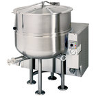 Cleveland KGL-80 Natural Gas 80 Gallon Stationary 2/3 Steam Jacketed Kettle - 190,000 BTU