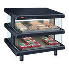 Hatco GR2SDS-24D Black Glo-Ray Designer 24 inch Slanted Double Shelf Merchandiser - 120V