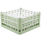 Vollrath 52725 Signature Full-Size Light Green 49-Compartment 8 1/2 inch XX-Tall Glass Rack