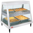 Hatco GRHDH-2PD White Granite Stainless Steel Glo-Ray 33 3/8 inch Full Service Dual Shelf Merchandiser with Humidity Chamber