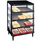 Hatco GRPWS-2418Q Black Glo-Ray 24 inch Quadruple Shelf Pizza Warmer - 1920W