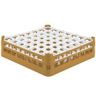 Vollrath 52722 Signature Full-Size Gold 49-Compartment 4 5/16 inch Medium Glass Rack