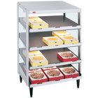 Hatco GRPWS-2418Q Granite White Glo-Ray 24 inch Quadruple Shelf Pizza Warmer - 120/240V, 1920W