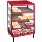 Hatco GRPWS-2418Q Warm Red Glo-Ray 24 inch Quadruple Shelf Pizza Warmer - 1920W