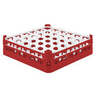 Vollrath 52714 Signature Full-Size Red 36-Compartment 4 5/16 inch Medium Glass Rack
