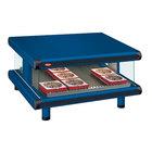 Hatco GR2SDS-54 Navy Blue Glo-Ray Designer 54 inch Slanted Single Shelf Merchandiser - 120V