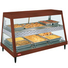 Hatco GRHDH-3PD Antique Copper Stainless Steel Glo-Ray 46 3/8 inch Full Service Dual Shelf Merchandiser with Humidity Chamber