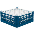 Vollrath 52724 Signature Full-Size Royal Blue 49-Compartment 7 1/8 inch X-Tall Glass Rack