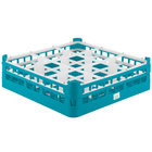 Vollrath 52727 Signature Full-Size Light Blue 9-Compartment 4 5/16 inch Medium Glass Rack
