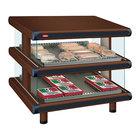 Hatco GR2SDS-48D Antique Copper Glo-Ray Designer 48 inch Slanted Double Shelf Merchandiser - 120/208V