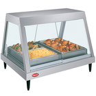 Hatco GRHDH-4P Stainless Steel Glo-Ray 59 3/8 inch Full Service Single Shelf Merchandiser with Humidity Chamber - 120/208V