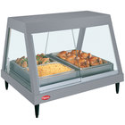 Hatco GRHDH-4P Gray Granite Stainless Steel Glo-Ray 59 3/8 inch Full Service Single Shelf Merchandiser with Humidity Chamber - 120/240V