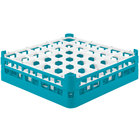 Vollrath 52714 Signature Full-Size Light Blue 36-Compartment 4 5/16 inch Medium Glass Rack
