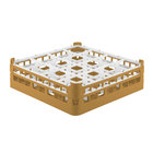 Vollrath 52718 Signature Full-Size Gold 16-Compartment 4 5/16 inch Medium Glass Rack
