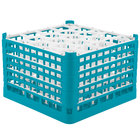Vollrath 52757 Signature Lemon Drop Full-Size Light Blue 20-Compartment 11 3/8 inch XXXX-Tall Glass Rack