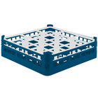 Vollrath 52761 Signature Full-Size Royal Blue 9-Compartment 4 13/16 inch Medium Plus Glass Rack