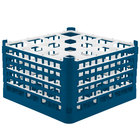 Vollrath 52732 Signature Full-Size Royal Blue 16-Compartment 9 15/16 inch XXX-Tall Glass Rack