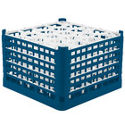 Vollrath 52757 Signature Lemon Drop Full-Size Royal Blue 20-Compartment 11 3/8 inch XXXX-Tall Glass Rack