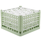 Vollrath 52757 Signature Lemon Drop Full-Size Light Green 20-Compartment 11 3/8 inch XXXX-Tall Glass Rack