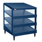 Hatco GRPWS-3624T Navy Blue Glo-Ray 36 inch Triple Shelf Pizza Warmer - 120/208V, 2700W