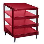 Hatco GRPWS-3624T Wine Red Glo-Ray 36 inch Triple Shelf Pizza Warmer - 120/208V, 2700W