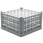 Vollrath 52734 Signature Full-Size Gray 36-Compartment 9 15/16 inch XXX-Tall Glass Rack
