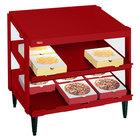 Hatco GRPWS-2424D Wine Red Glo-Ray 24 inch Double Shelf Pizza Warmer - 1200W