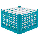 Vollrath 52738 Signature Full-Size Light Blue 25-Compartment 11 3/8 inch XXXX-Tall Glass Rack