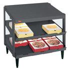 Hatco GRPWS-2424D Granite Gray Glo-Ray 24 inch Double Shelf Pizza Warmer - 1200W