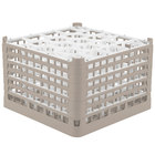Vollrath 52757 Signature Lemon Drop Full-Size Beige 20-Compartment 11 3/8 inch XXXX-Tall Glass Rack