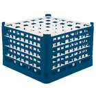 Vollrath 52739 Signature Full-Size Royal Blue 36-Compartment 11 3/8 inch XXXX-Tall Glass Rack