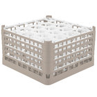 Vollrath 52754 Signature Lemon Drop Full-Size Beige 20-Compartment 9 15/16 inch XXX-Tall Glass Rack