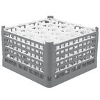 Vollrath 52755 Signature Lemon Drop Full-Size Gray 20-Compartment 10 9/16 inch XXX-Tall Plus Glass Rack