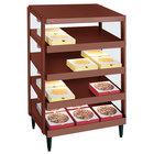 Hatco GRPWS-2424Q Antique Copper Glo-Ray 24 inch Quadruple Shelf Pizza Warmer - 120/240V, 2400W