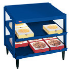 Hatco GRPWS-2424D Navy Blue Glo-Ray 24 inch Double Shelf Pizza Warmer - 1200W