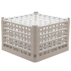 Vollrath 52740 Signature Full-Size Beige 49-Compartment 11 3/8 inch XXXX-Tall Glass Rack
