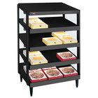 Hatco GRPWS-2424Q Black Glo-Ray 24 inch Quadruple Shelf Pizza Warmer - 120/208V, 2400W