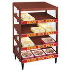 Hatco GRPWS-3618Q Antique Copper Glo-Ray 36 inch Quadruple Shelf Pizza Warmer - 120/208V, 2880W
