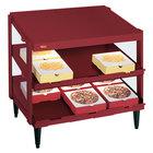 Hatco GRPWS-3624D Wine Red Glo-Ray 36 inch Double Shelf Pizza Warmer - 1800W