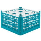 Vollrath 52731 Signature Full-Size Light Blue 9-Compartment 9 15/16 inch XXX-Tall Glass Rack