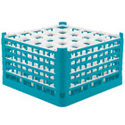 Vollrath 52733 Signature Full-Size Light Blue 25-Compartment 9 15/16 inch XXX-Tall Glass Rack