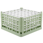 Vollrath 52734 Signature Full-Size Light Green 36-Compartment 9 15/16 inch XXX-Tall Glass Rack
