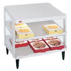 Hatco GRPWS-3624D Granite White Glo-Ray 36 inch Double Shelf Pizza Warmer - 1800W