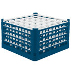 Vollrath 52734 Signature Full-Size Royal Blue 36-Compartment 9 15/16 inch XXX-Tall Glass Rack